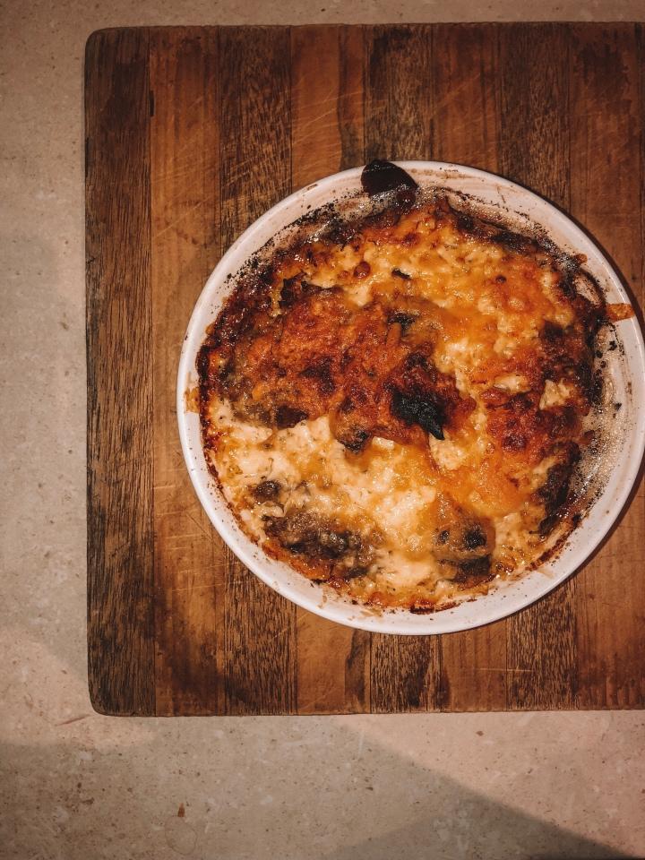 Onion mushroom frittata